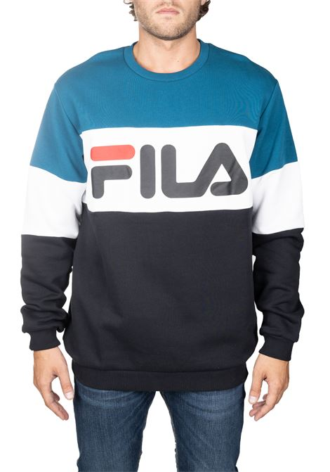 MULTICOLORED COTTON SWEATSHIRT WITH FRONT LOGO PRINT FILA | Sweatshirts | 681255A216