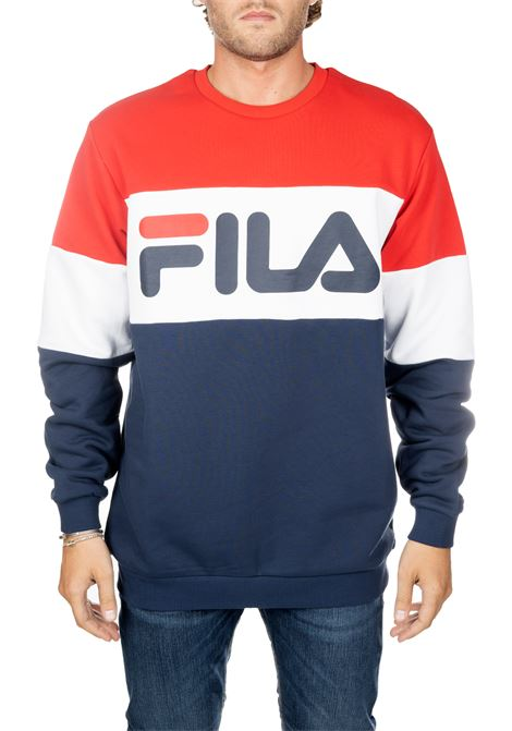 MULTICOLORED COTTON SWEATSHIRT WITH FRONT LOGO PRINT FILA | Sweatshirts | 681255G06