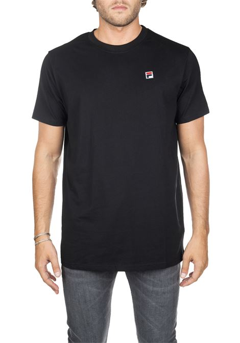 BLACK COTTON T-SHIRT WITH FRONT LOGO EMBROIDERY FILA | T-shirt | 682393002