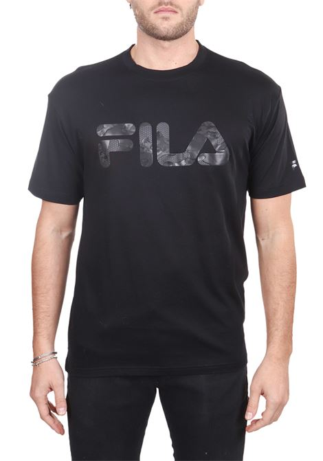BLACK T-SHIRT WITH FRONT COTTON LOGO DETAIL FILA | T-shirt | 682696002