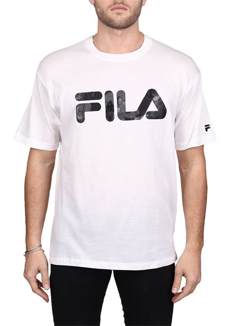 WHITE T-SHIRT WITH FRONT COTTON LOGO DETAIL FILA | T-shirt | 682696M67