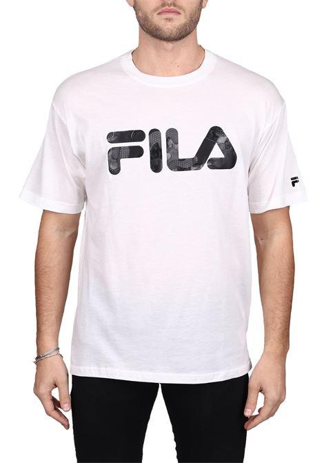T-SHIRT BIANCA CON DETTAGLIO LOGO FRONTALE IN COTONE FILA | T-shirt | 682696M67
