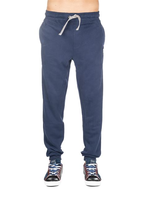 BLUE SUIT COTTON PANTS WITH FRONT LOGO EMBROIDERY FILA | Pants | 684385003