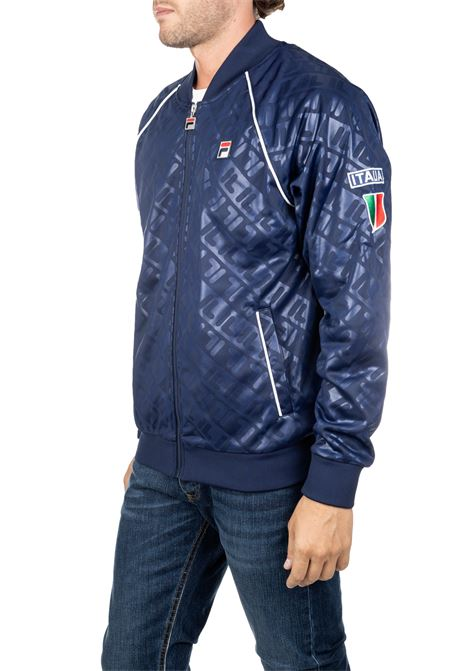 BLUE SWEATSHIRT WITH EMBROIDERY FRONT LOGO WITH ITALY LOGO FILA | Sweatshirts | 684554003