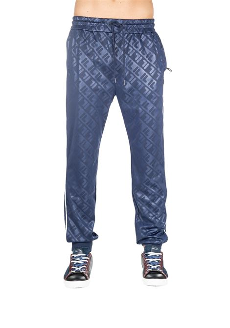 PANTALONI TUTA BLU CON LOGO ALL OVER FILA | Pantaloni | 684555003