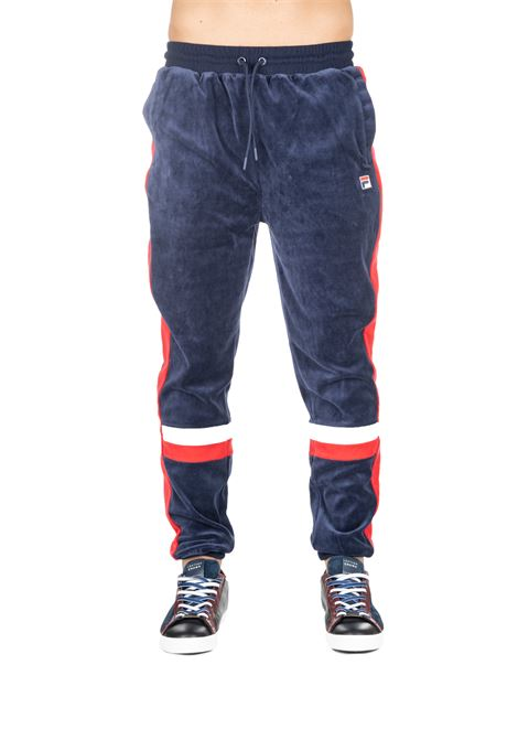 BLUE SUIT COTTON PANTS WITH FRONT LOGO EMBROIDERY FILA | Pants | 684568003