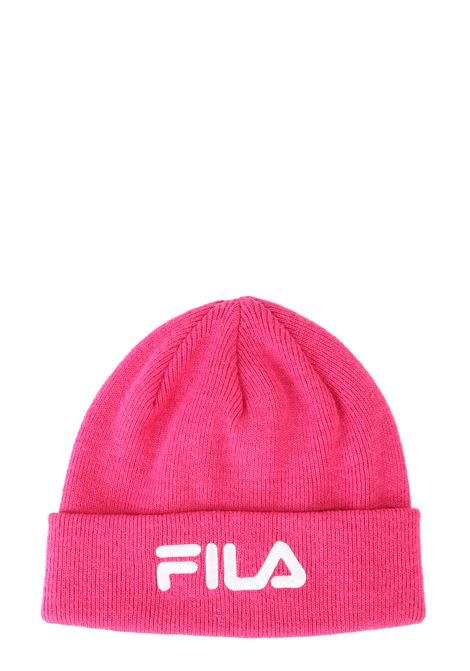 FUCSIA COTTON MIXED HAT WITH FRONT LOGO EMBROIDERY FILA | Hats | 686035A163