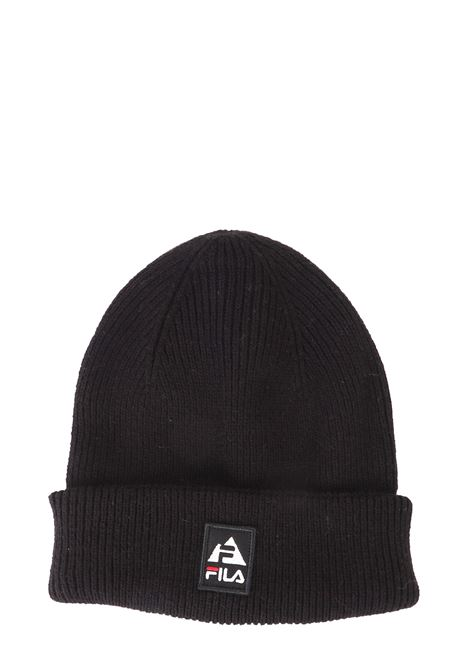 BLACK COTTON MIXED HAT WITH FRONT LOGO APPLICATION FILA | Hats | 686037002