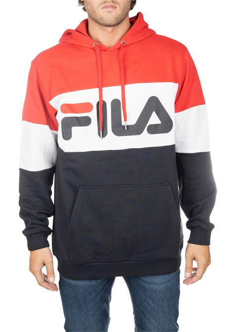 MULTICOLORED COTTON SWEATSHIRT WITH FRONT LOGO PRINT FILA | Sweatshirts | 687001A089