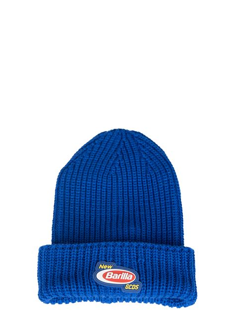 BLUE HAT APPLICATION BARILLA LOGO GCDS | Hats | BR20U01000208