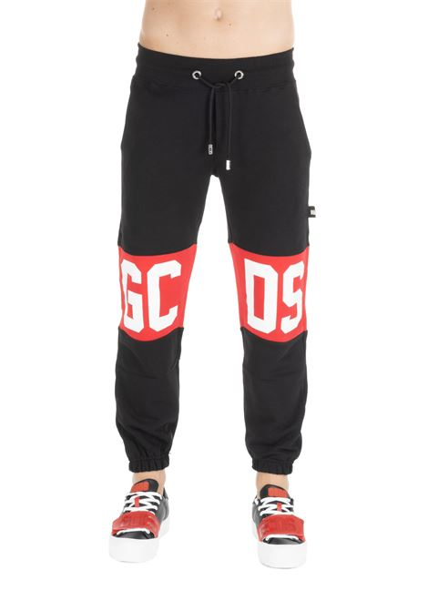 BLACK COTTON SUIT PANTS GCDS | Track Pants | CC94U030037BLACK
