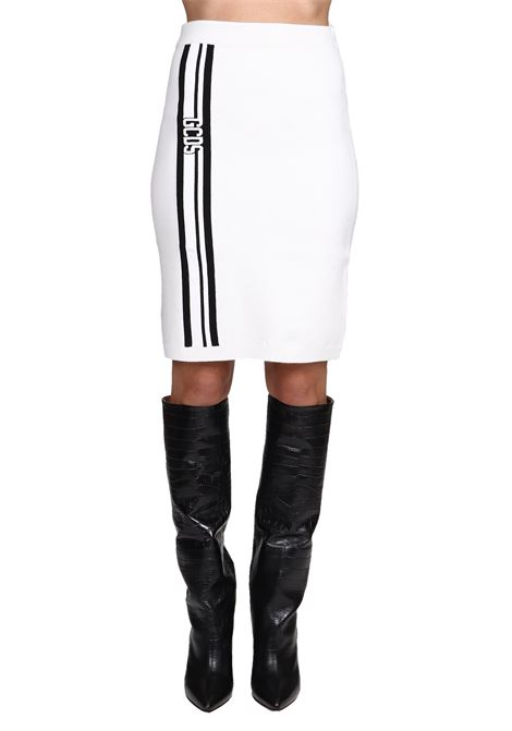 WHITE SKIRT WITH FRONT LOGO GCDS | Skirts | CC94W03022201