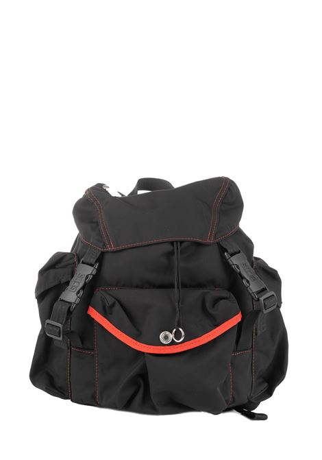 BLACK BACKPACK WITH FRONT LOGO GCDS | Backpacks | FW20M01002402