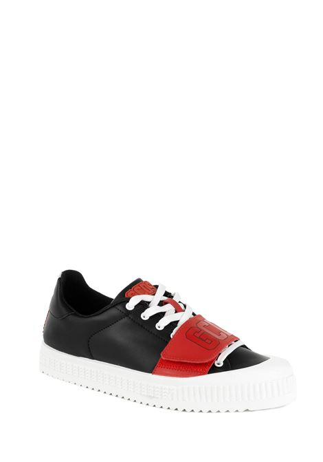 BLACK LEATHER SNEAKERS GCDS | Sneakers | FW20M01010002