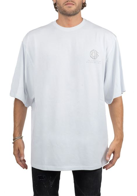 WHITE T-SHIRT WITH FRONT LOGO APPLICATION GCDS | T-shirt | FW20M020025WHITE