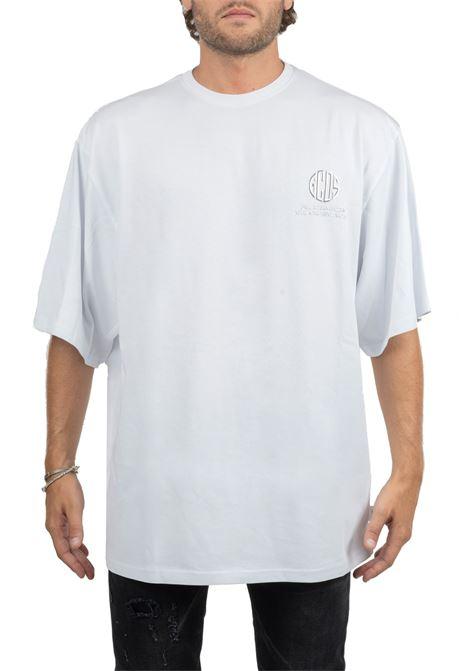 T-SHIRT BIANCA CON APPLICAZIONE LOGO FRONTALE GCDS | T-shirt | FW20M020025WHITE