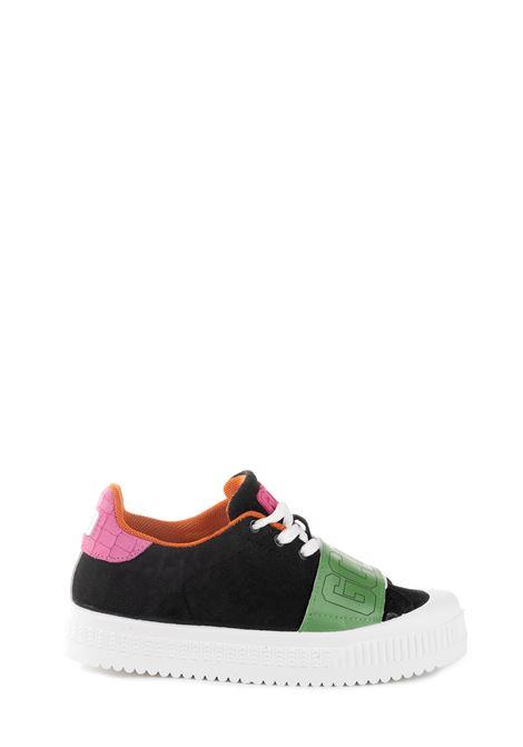 SNEAKER NERA IN PELLE CON FASCIA ELASTICA GCDS | Sneaker | FW20W01001602