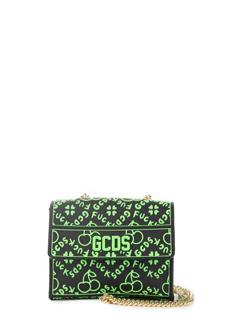 GREEN CHERRY SHOULDER BAG GCDS | Bags | FW20W01001802