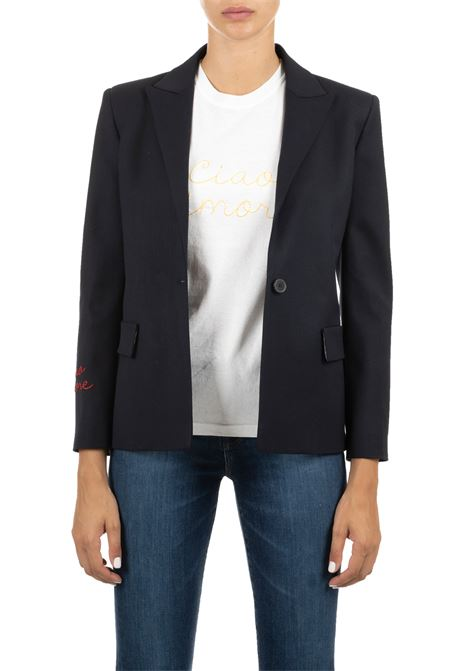 BLUE JACKET HELLO LOVE ADHERENT GIADA BENINCASA | Jackets | A0201BLU