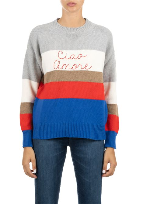 WOOLEN SWEATER WITH FRONTAL EMBROIDERY GIADA BENINCASA | Sweaters | A0714VA2