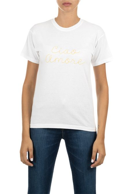 COTTON T-SHIRT WITH WHITE LOGO GIADA BENINCASA | T-shirt | A0951TBTF2