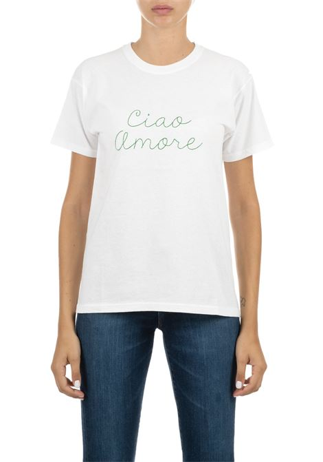 T-SHIRT IN COTONE  CON LOGO BIANCA GIADA BENINCASA | T-shirt | A0951TBTF4