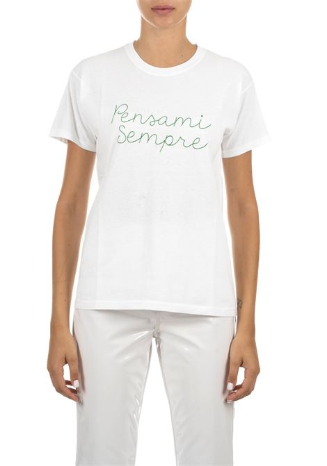 WHITE COTTON T-SHIRT WITH FRONTAL EMBROIDERY GIADA BENINCASA | T-shirt | A0952TBTF4