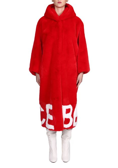 RED ECO-FAUX GLOX | Fur coat | DN30FAKEDN30ROSSO