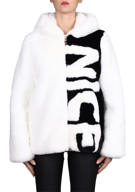 NICE FRONTAL BICOLOR FUR GLOX | Fur coat | DN36FAKEDN36WHITE