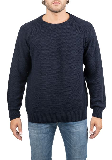EMBROIDERED BLUE JERSEY GRIFONI | Sweaters | GF110111/52890
