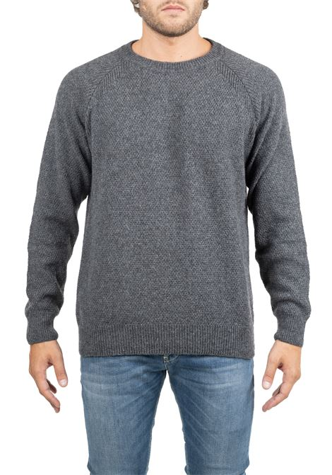 EMBROIDERED GRAY JERSEY GRIFONI | Sweaters | GF110111/52980