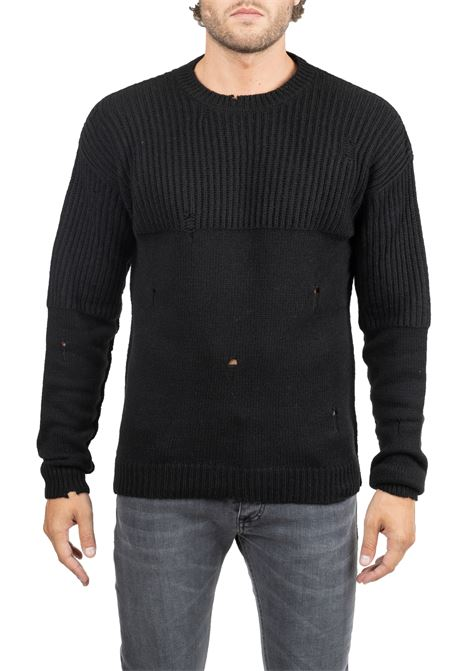 PERFORATED BLACK JERSEY GRIFONI | Sweaters | GF110124/52999