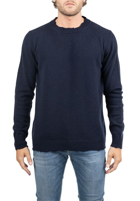 BLUE ROUND NECK SWEATER GRIFONI | Sweaters | GF110131/56890