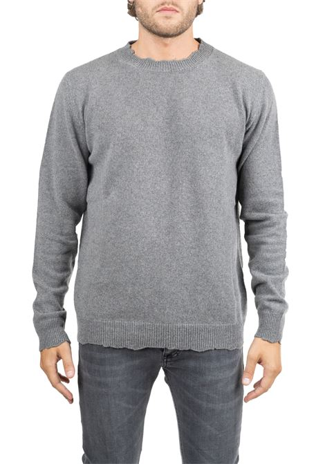 GRAY ROUND NECK SWEATER GRIFONI | Sweaters | GF110131/56950