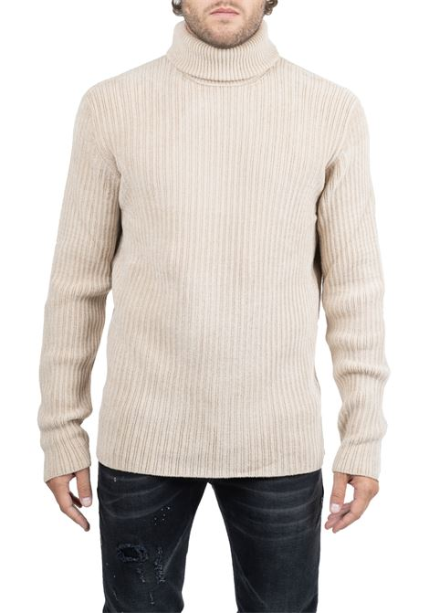 IVORY T-SHIRT HIGH NECK GRIFONI | Sweaters | GF110132/56050