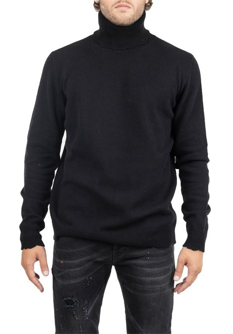 BLACK SWEATER WITH HIGH NECK GRIFONI | Sweaters | GF110132/56999