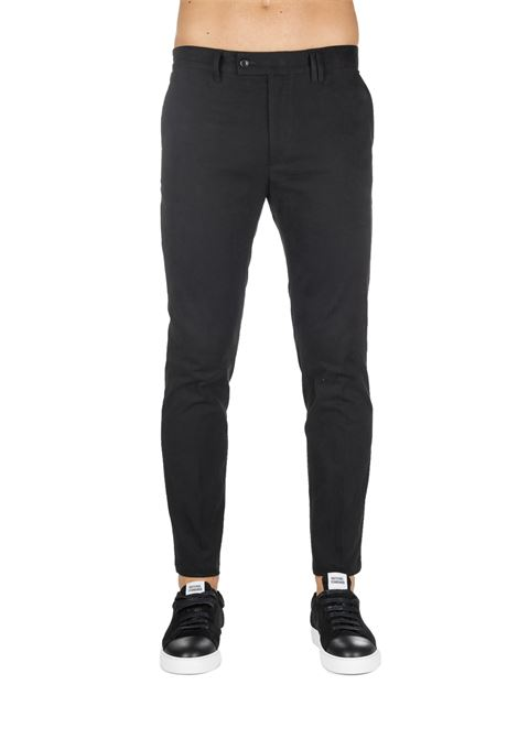 BLACK COTTON TROUSERS GRIFONI | Pants | GF140010/15999