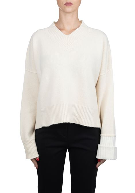 WHITE MESH IN WOOL AND CASHMERE GRIFONI | Sweaters | GF210038/70050
