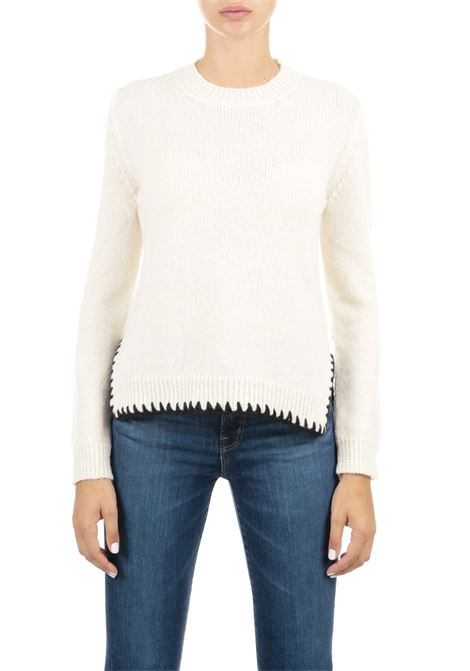 WOOL IVORY SWEATER GRIFONI | Sweaters | GF210044/69020