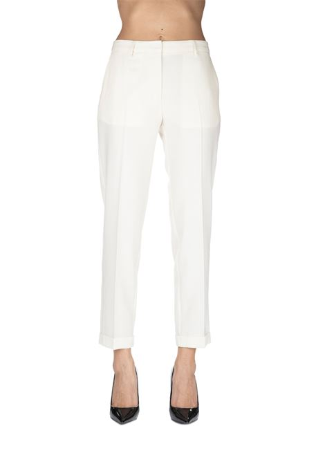 WHITE PANTS MIXED IN WOOL MIXED GRIFONI | Pants | GF240972/23050