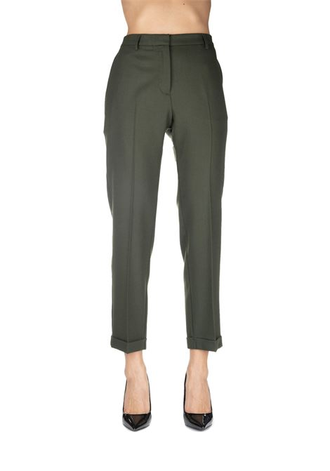 GREEN PANTS MIXED IN WOOL MIXED GRIFONI | Pants | GF240972/23790