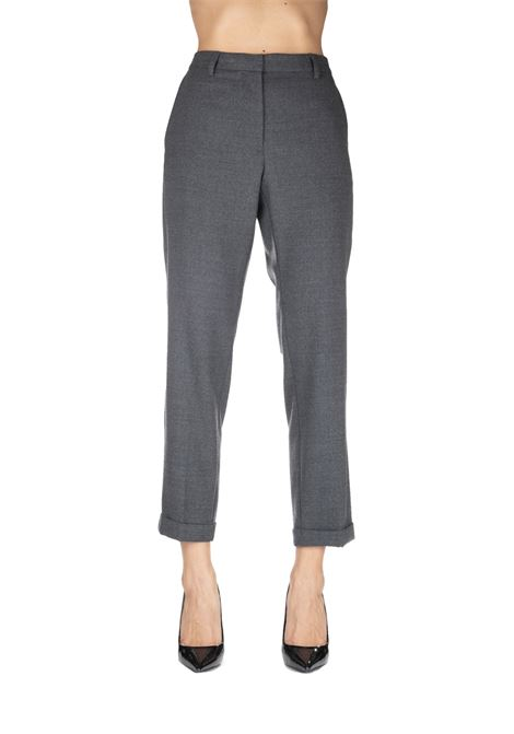 GRAY PANTS MIXED IN WOOL MIXED GRIFONI | Pants | GF240972/23960