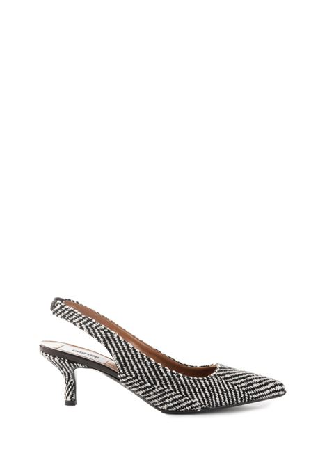 EMBROIDERED WHITE AND BLACK SHOE GRIFONI | Shoes | GF290010/303001