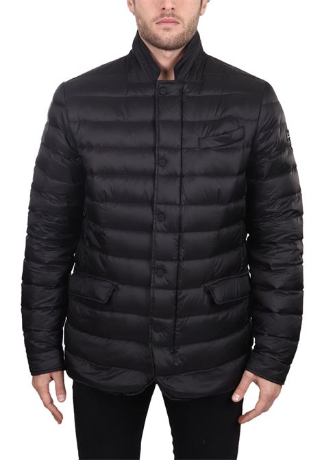 BLACK QUILTED BEEMIN DOWN JACKET HETREGO | Jackets | 8H403F19WU01NERO