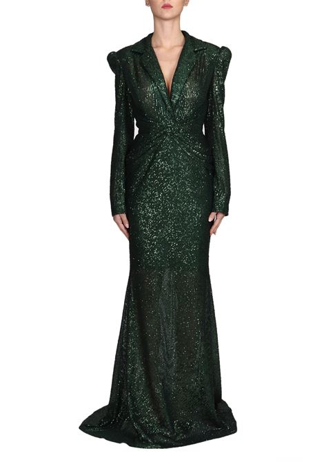 ALLOVER PAILLETTES LONG GREEN JACKET DRESS IRIS SERBAN |  | JACKETDRESSSEQUINIRW9MATGREEN