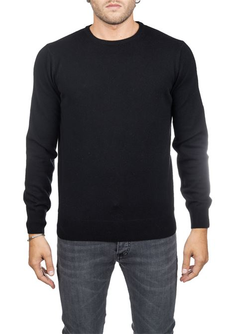 BLACK SWEATER IN MERINO WOOL KANGRA | Sweaters | 80010113