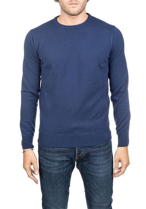 BLUE SWEATER IN MERINO WOOL KANGRA | Sweaters | 800101309