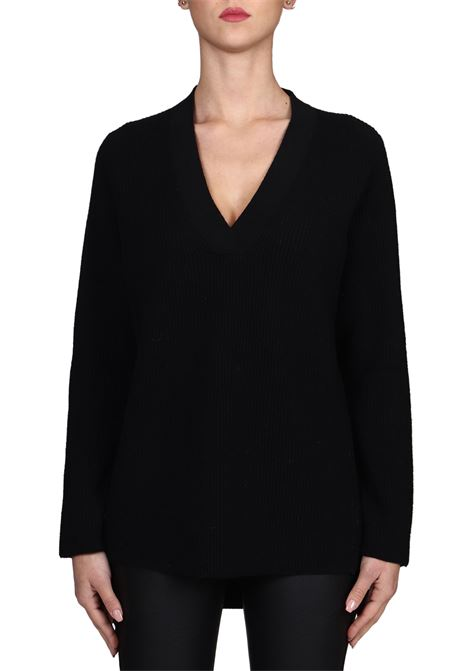 BLACK WOOL MESH SHIRT KANGRA | Sweaters | 8505020013