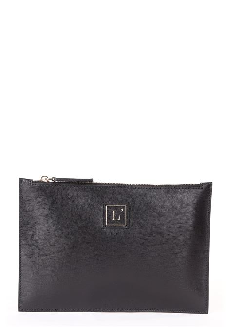 MINI CLUTCH BAG IN PELLE SAFFIANO NERA L'AUTRE-CHOSE | Pochette | LBK00402500771001