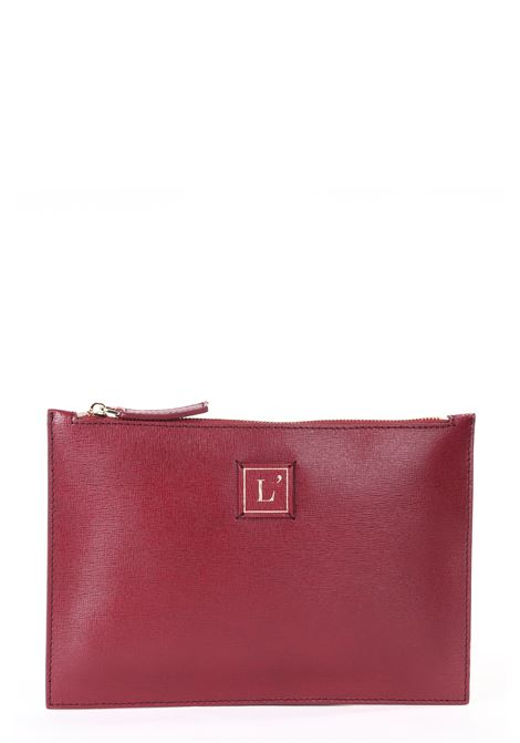 MINI CLUTCH BAG IN PELLE SAFFIANO BORDEAUX NERA L'AUTRE-CHOSE | Pochette | LBK00402500774034